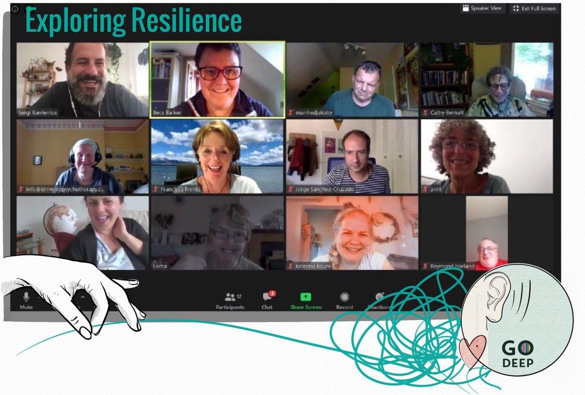 Go Deepers met online to play Resilienceline